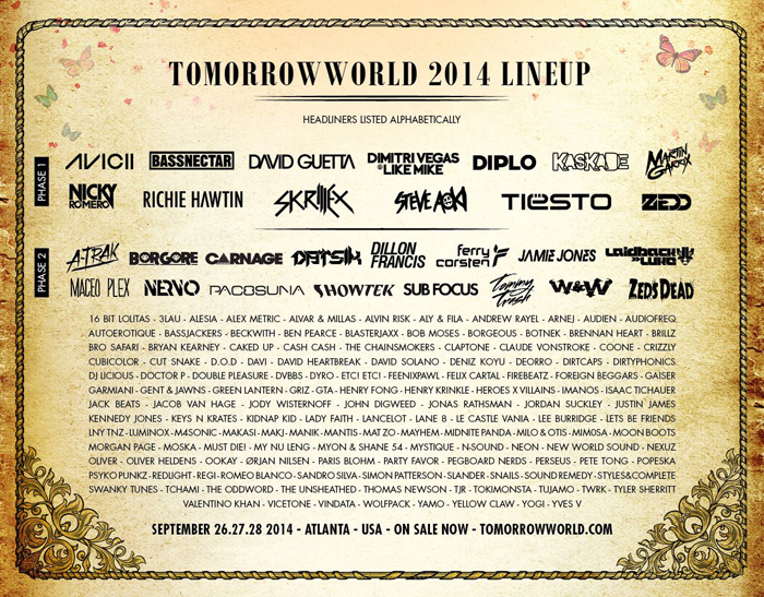 Tomorrowworld_2014_Lineup