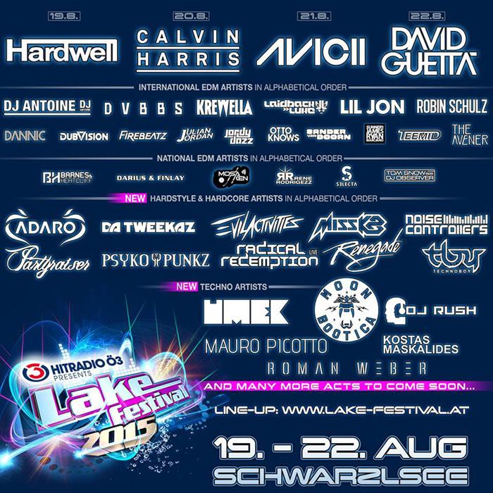 Lake Festival LineUp 2015